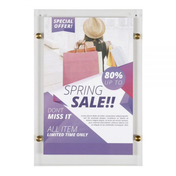 11x17-wall-mount-clear-acrylic-sign-holder-frame-brushed-gold-5-pcs-in-a-box (1)