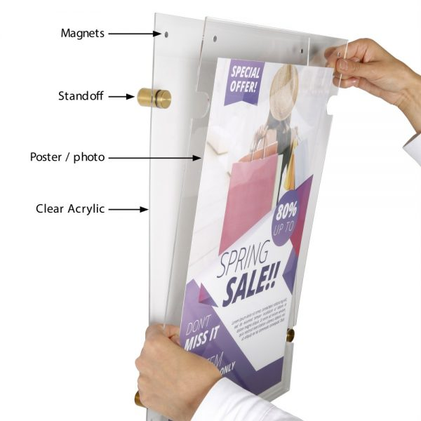 11x17-wall-mount-clear-acrylic-sign-holder-frame-brushed-gold-5-pcs-in-a-box (3)