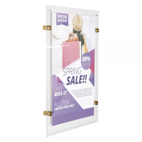 11x17-wall-mount-clear-acrylic-sign-holder-frame-brushed-gold-5-pcs-in-a-box (8)