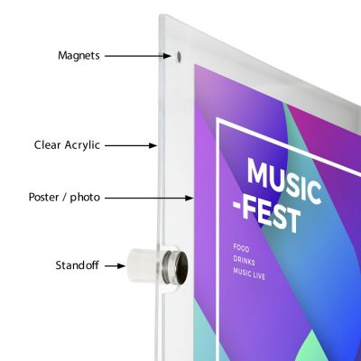 18x24-wall-mount-clear-acrylic-sign-holder-frame-chrome-silver (3)
