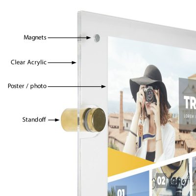 22x28-wall-mount-clear-acrylic-sign-holder-frame-chrome-gold (2)