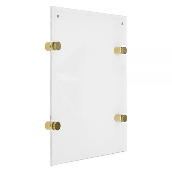 22x28-wall-mount-clear-acrylic-sign-holder-frame-chrome-gold (4)