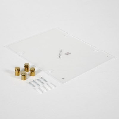 22x28-wall-mount-clear-acrylic-sign-holder-frame-chrome-gold (5)