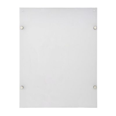 22x28-wall-mount-clear-acrylic-sign-holder-frame-chrome-silver (4)