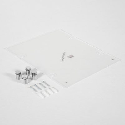 22x28-wall-mount-clear-acrylic-sign-holder-frame-chrome-silver (8)