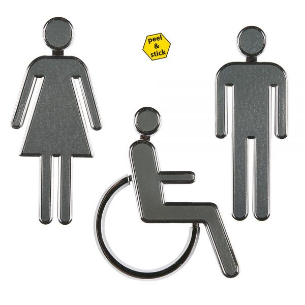 chrome-coated-3-94-high-toilet-sign-set-women-men-and-handicap-gray-panel