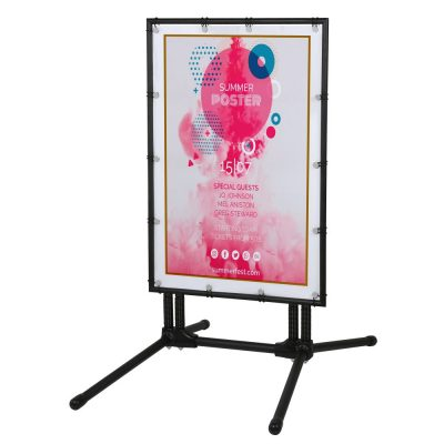24x36 Banner advertising a Summerfest with a black frame