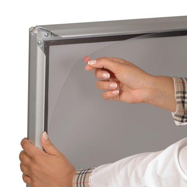 SwingPro Silver Frame Silver Feet Sidewalk Sign (1)