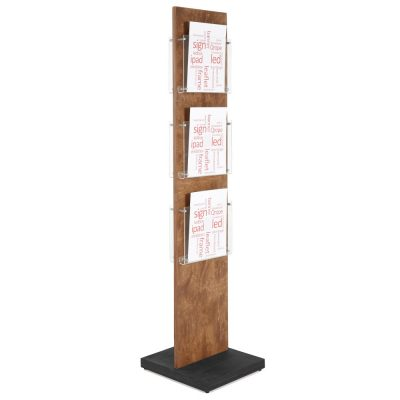 Wood Poster Stand Double Sided