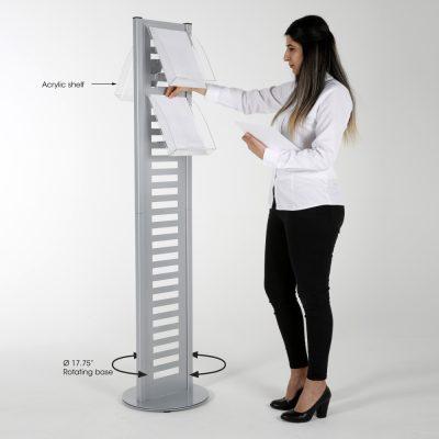 heavy-duty-literature-rack-8-pcs-acrylic-shelf-and-rotating-base-gray-85-11-a4 (2)