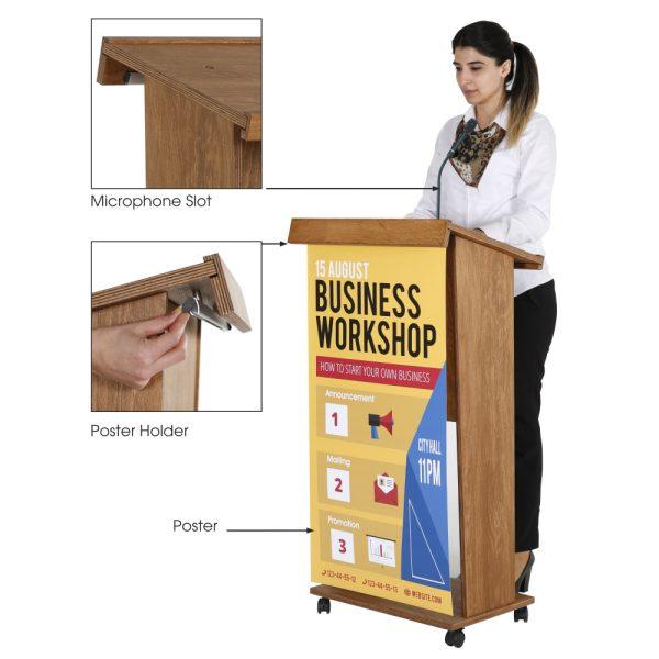 plywood-stand-up-podium-and-lockingcaster-wheels-45-dark-wood (2)