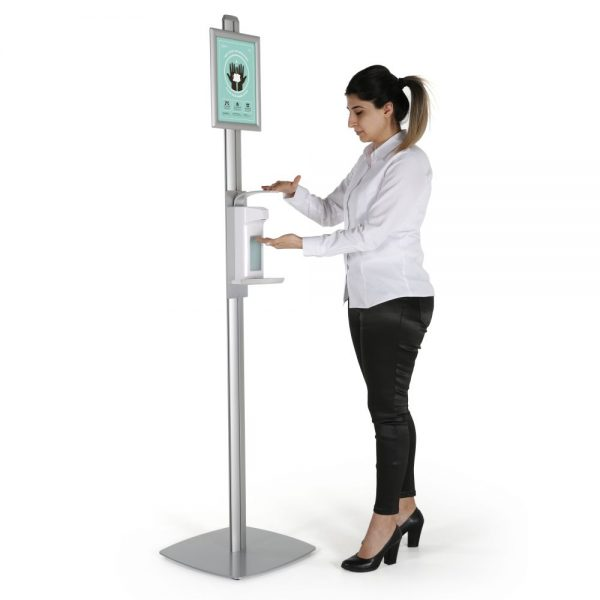 free-standing-sign-post-with-sanitizer-dispenser-1000-ml-33-8-oz-without-gel-soap-dispanser (1)