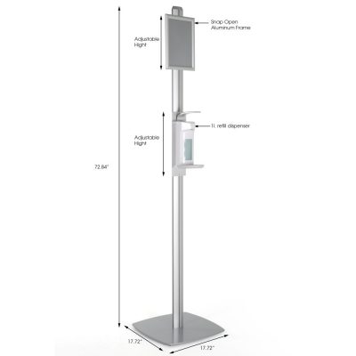 free-standing-sign-post-with-sanitizer-dispenser-1000-ml-33-8-oz-without-gel-soap-dispanser (2)