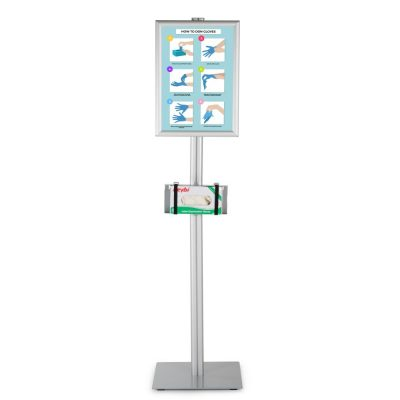 floor-stand-for-healthcare-dispenser-with-11x17-inch-front-loading-opti-snap-frame-poster (3)