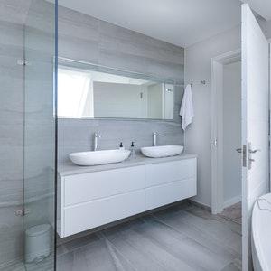 a modern bathroom