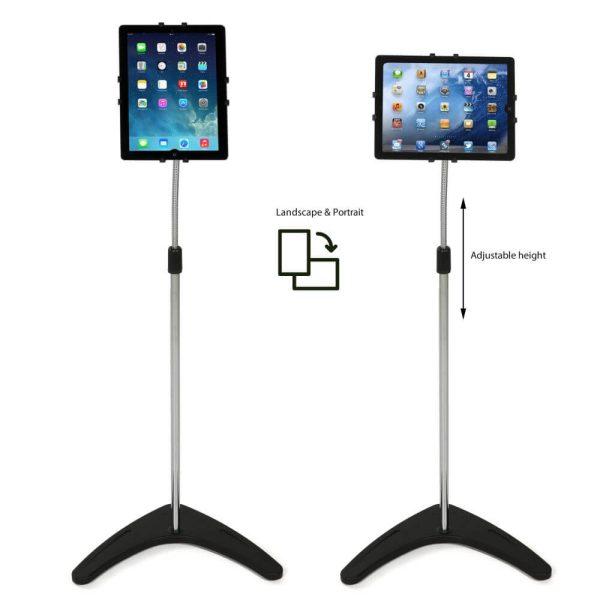 Floor-Standing-iPad-Tablet-Kindle -Silver (2)