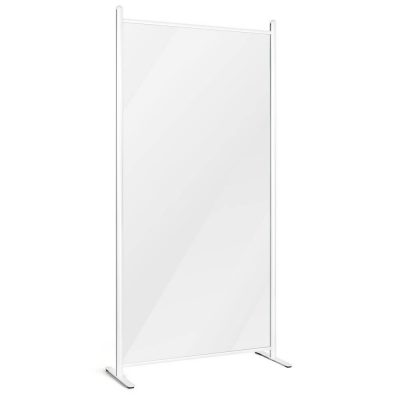 Clear wall separator with white frame