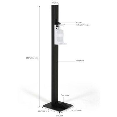 Basic Touchless Hand Sanitizer Dispenser 1000mL. Black
