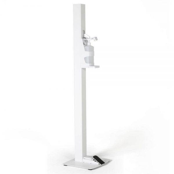 Basic Touchless Hand Sanitizer Dispenser 1000mL. White Foot Operated