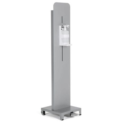 Gray Foot Operated Touchless Hand Sanitizer Dispenser