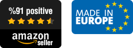 Amazon Seller Icon with a Made in Europe Icon